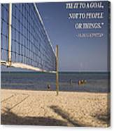 Happy Volleyball Goal Canvas Print
