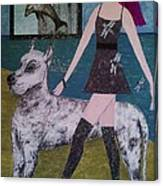 Happy Walk By Jasna Gopic Canvas Print