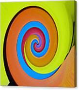Happy Swirl Canvas Print