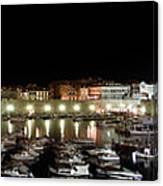 Harbor At Night Canvas Print