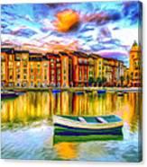 Harbor At Sunset Canvas Print