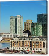 Harbor East Complex In Baltimore From Federal Hill Canvas Print