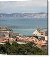 Harbor Entrance Marseille Canvas Print