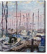 Harbor In Early Morning Canvas Print