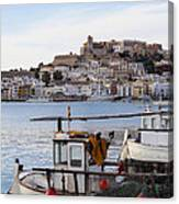 Harbor In Ibiza Town Canvas Print