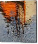 Harbor Reflecting Canvas Print