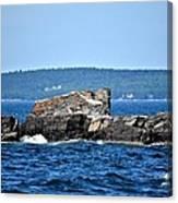 Harbor Rocks Canvas Print
