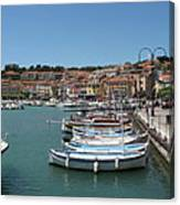 Harbor Scene Cassis  Canvas Print