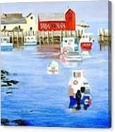 Harbor Scene Canvas Print