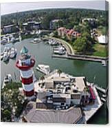 Harbor Town 1 In Hilton Head Canvas Print