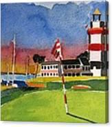 Harbour Town 18th Sc Canvas Print