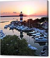 Harbor Town 4 In Hilton Head Canvas Print