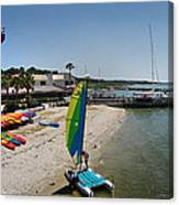 Harbor Town Beach 2 In Hilton Head Canvas Print