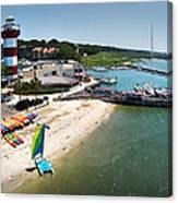 Harbor Town Beach 3 In Hilton Head Canvas Print
