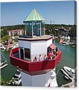 Harbor Town Lighthouse In Hilton Head Canvas Print