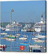 Harbour And Queen's Wharf - Falmouth Canvas Print