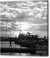 Harbour Clouds Canvas Print