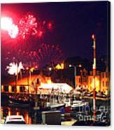 Harbour Fireworks Canvas Print