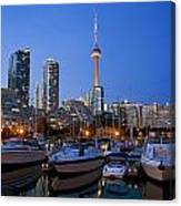 Harbourfront Marina West At Dusk Canvas Print