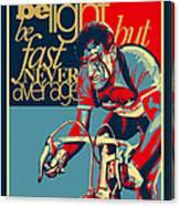 Hard As Nails Vintage Cycling Poster Canvas Print