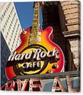 Hard Rock Cafe Guitar Sign In Philadelphia Canvas Print