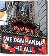 Hard Rock Cafe New York Canvas Print