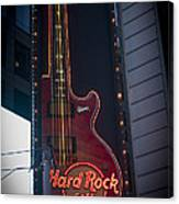 Hard Rock Guitar Nyc Canvas Print