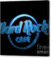 Hard Rock Neon In Space Canvas Print