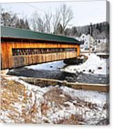 Hardwick Covered Bridge  Canvas Print