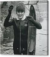 Hardy Jeannette Breaks The Ice At Rickmansworth Aquadrome Canvas Print