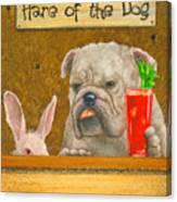 Hare Of The Dog...the Bulldog... Canvas Print