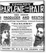 Harlene For The Hair, 1897 Canvas Print