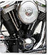 Harley Chrome And Steel Canvas Print