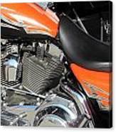 Harley Close-up Orange 1 Canvas Print