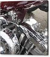 Harley Close-up Possessed Canvas Print