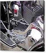 Harley Close-up Purple Lights Canvas Print