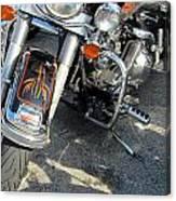 Harley Close-up W Shadow 1 Canvas Print