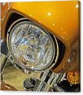 Harley Close-up Yellow 2 Canvas Print