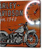 Harley Davidson 1940s Sign Canvas Print