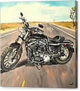 Harley Davidson 883 Sportster Canvas Print