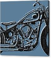 Harley-davidson And Words Canvas Print