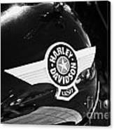 Harley Davidson Aviation Themed Star Logo On Fat Boy Bike In Orlando Florida Usa Canvas Print