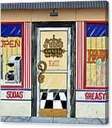 Harley Davidson Cafe Canvas Print