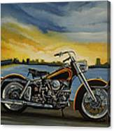 Harley Davidson Duo Glide Canvas Print