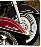 Harley Davidson Heritage Softail And Road King Canvas Print