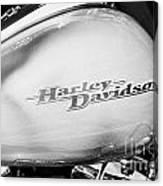Harley Davidson Logo On Street Glide Bike Orlando Florida Usa Canvas Print