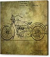 Harley Davidson Motorbike Patent  Canvas Print