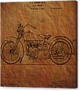 Harley Davidson Patent  Canvas Print