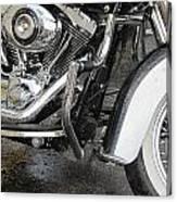 Harley Engine Close-up Rain 1 Canvas Print