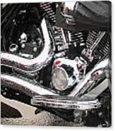 Harley Engine Close-up Rain 2 Canvas Print